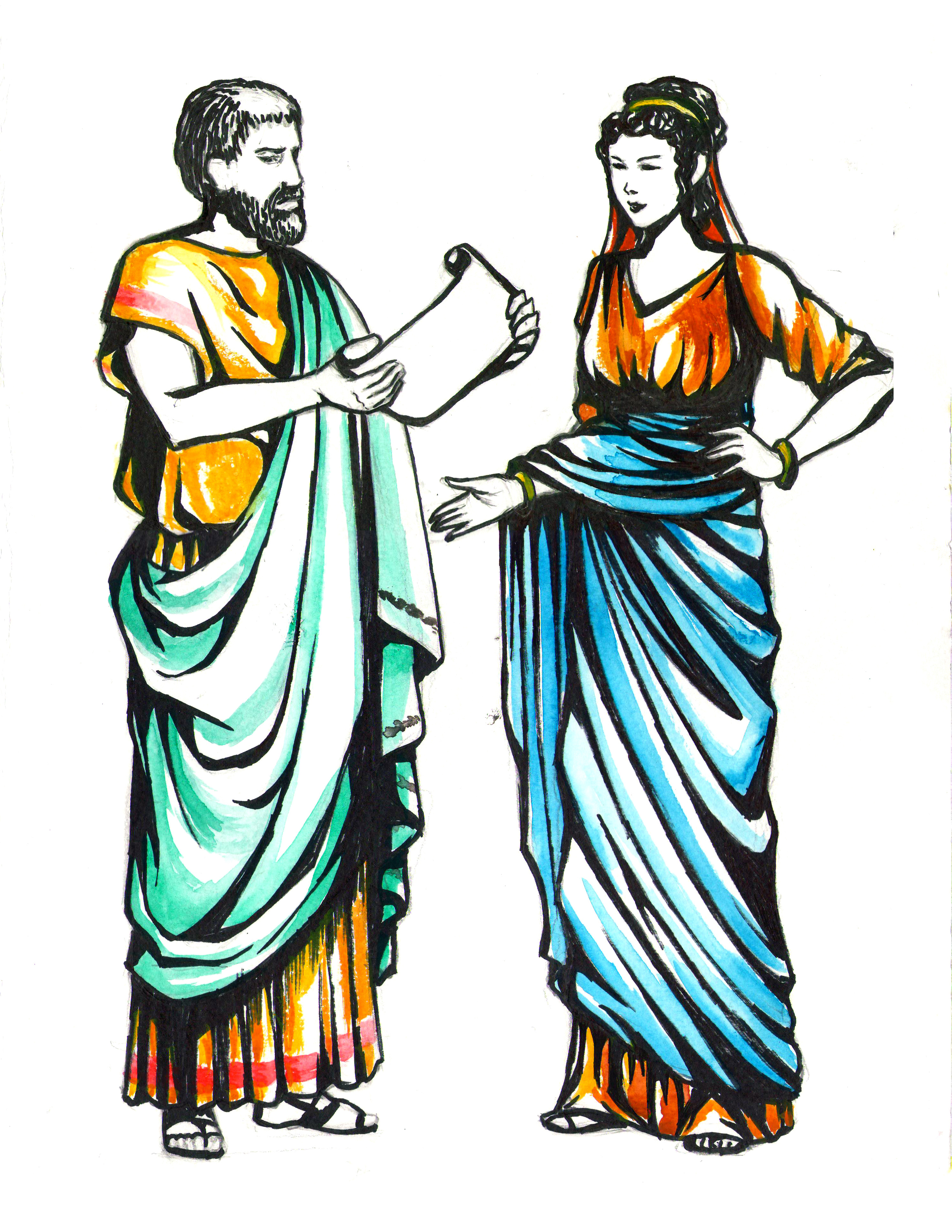Ancient Roman Women Clothing